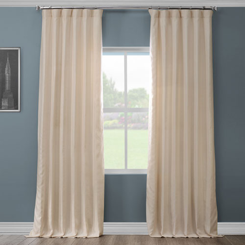 French Ivory 120 x 50 In. Linen Curtain Panel