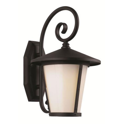 Black One-Light Outdoor Wall Sconce