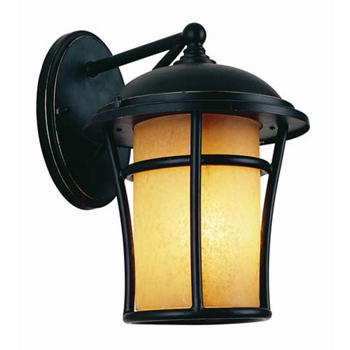Efficient Lighting Black One-Light Outdoor Wall Sconce