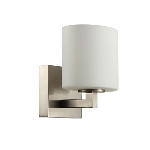 Brushed Nickel Seven-Inch One-Light Wall Sconce
