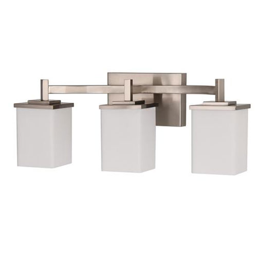 Brushed Nickel 25-Inch Three-Light Bath Vanity