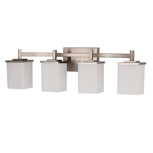 Efficient Lighting Brushed Nickel 32-Inch Four-Light LED Bath Vanity