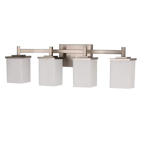 Brushed Nickel 32-Inch Four-Light Bath Vanity