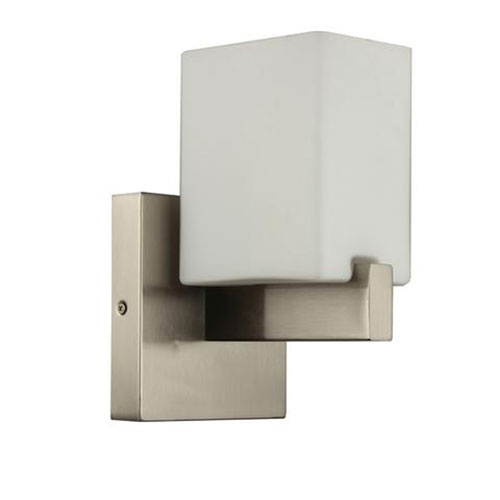 Efficient Lighting Brushed Nickel Six-Inch One-Light Wall Sconce