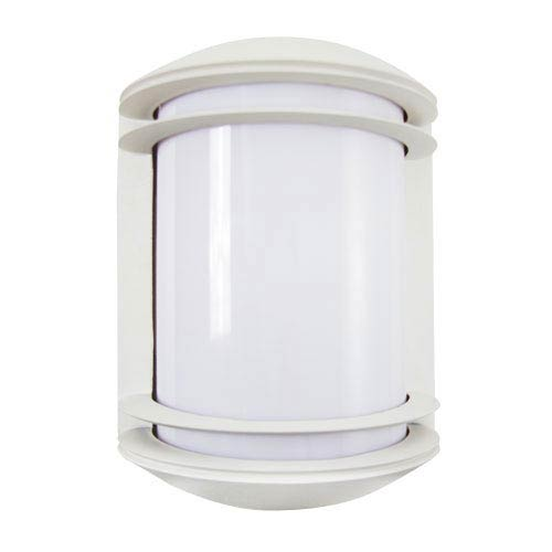 Powder Coated White Energy Star Outdoor Wall Lantern with Photocell and Acrylic Lens