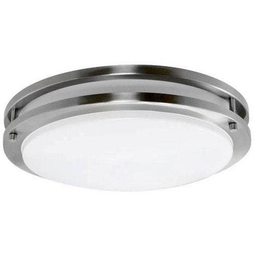 Brushed Nickel 14 Inch Energy Star Flush Mount with Acrylic Lens