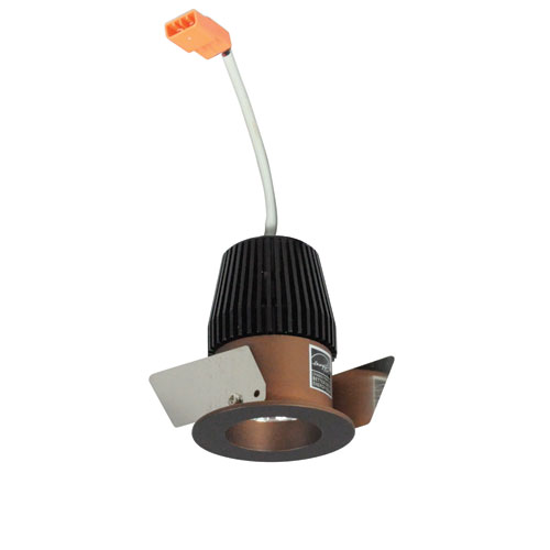 Nora Lighting Iolite Bronze One-Inch 27K LED Straight Regress Round Recessed Light
