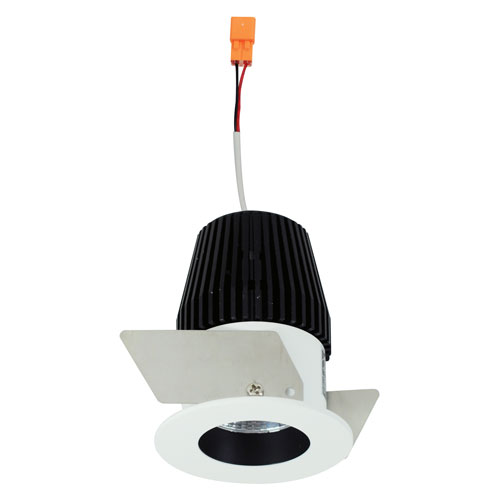 Iolite Black and White One-Inch 30K LED Straight Regress Round Recessed Light