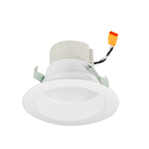 Nora Lighting PRISM White Four-Inch LED Smart Color Changing Retrofit Reflector Downlight