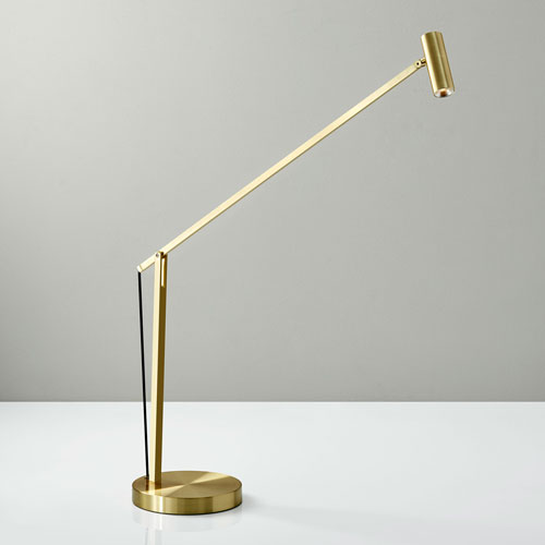 Crane Brushed Gold LED Desk Lamp