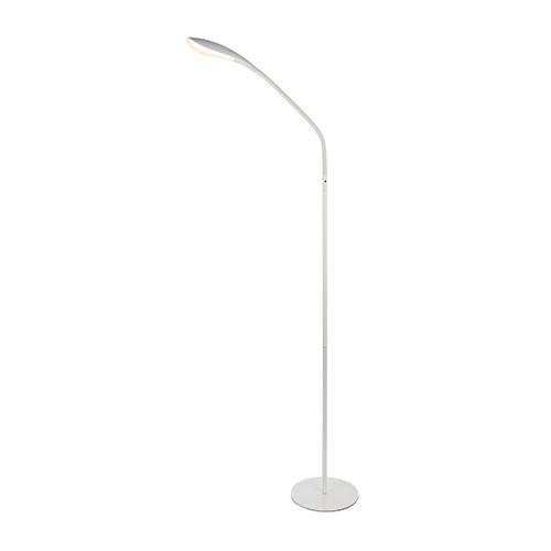 Illumen Glossy Frosted White One-Light LED Floor Lamp