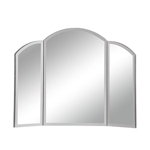 Contempo Hand Rubbed Antique Silver Dresser Mirror