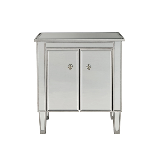 Reflexion Antique Silver Paint 26-Inch Nightstand