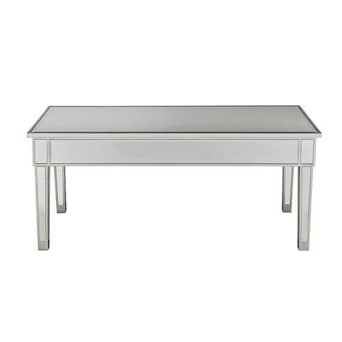 Elegant Lighting Reflexion Antique Silver Paint 40-Inch Coffee Table