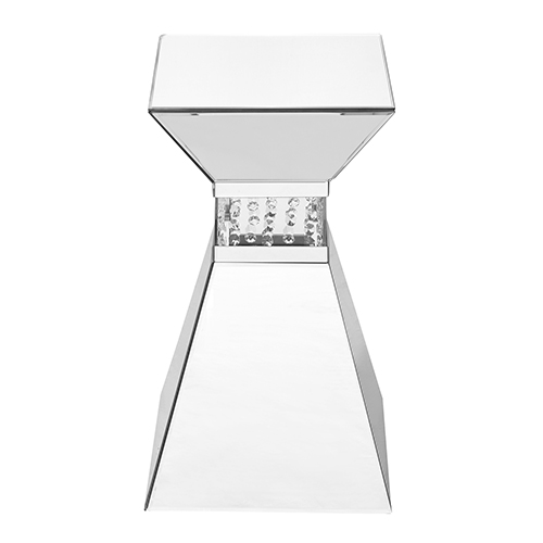 Modern Mirrored Contemporary 20-Inch Crystal End Table