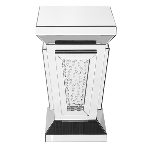 Modern Mirrored 24-Inch Contemporary Crystal End Table