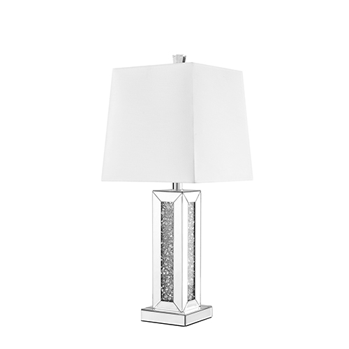 Elegant Lighting Sparkle Mirrored 28-Inch One-Light Tall Table Lamp