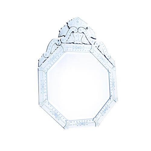 Elegant Lighting Venetian Glass 30-Inch Mirror