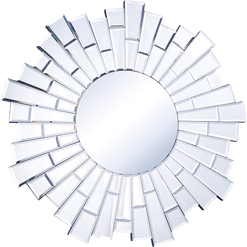 Modern Glass 32-Inch Beveled Mirror