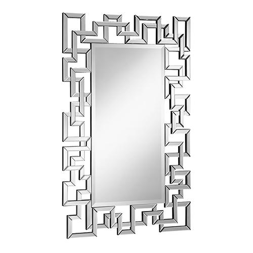 Elegant Lighting Modern Glass 30-Inch Mirror
