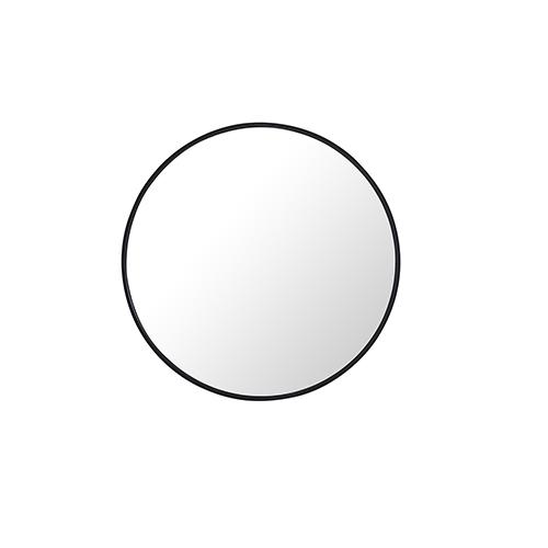 Eternity Round Black 24-Inch Mirror