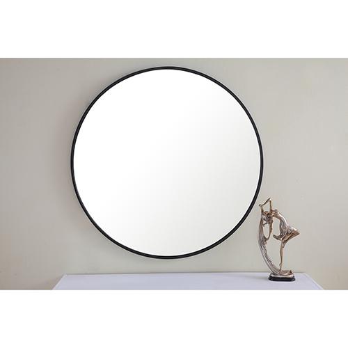 Eternity Black Round 32-Inch Mirror