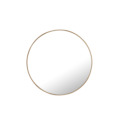 Eternity Brass Round 32-Inch Mirror