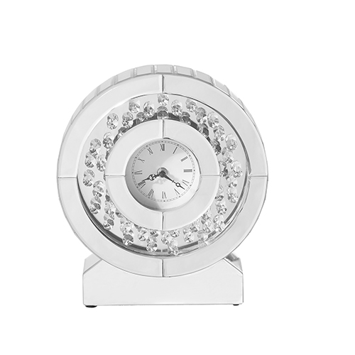 Sparkle Crystal 10-Inch Round Table clock