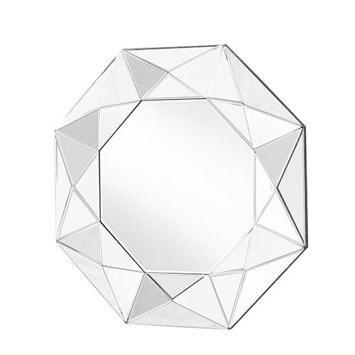 Sparkle Glass 36-Inch Geometric Mirror