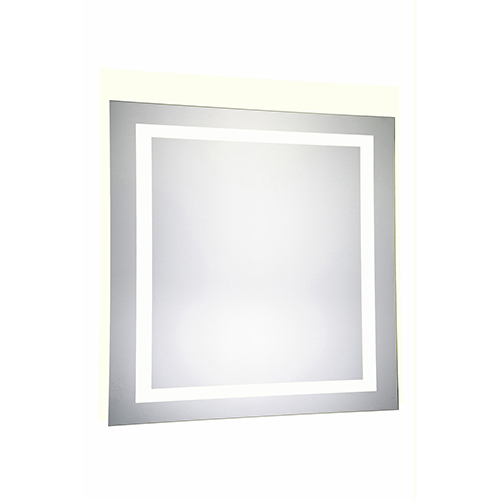 Nova Glossy Frosted White 36-Inch Four-Side LED Mirror 5000K