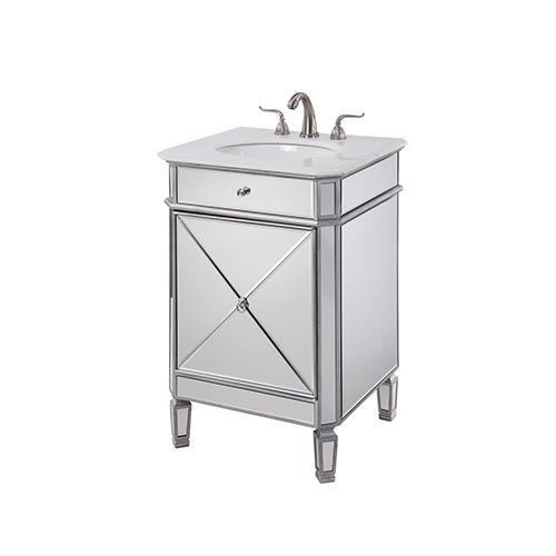 Elegant Lighting Camille Mirrored Vanity Washstand