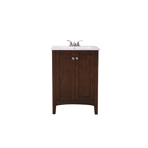 Mod Antique Coffee Vanity Washstand