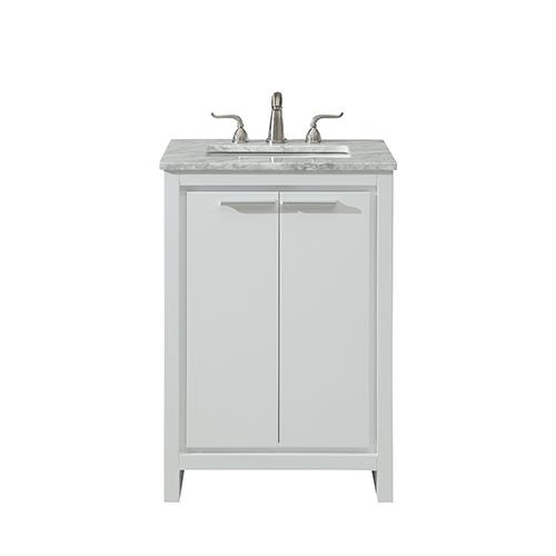 Filipo Frosted White Vanity Washstand