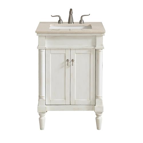 Bellacor Featured Item 2109220 - Antique White Bathroom Vanity Bellacor