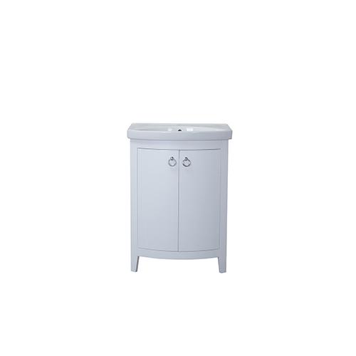 Elegant Lighting Cole Frosted White Vanity Washstand