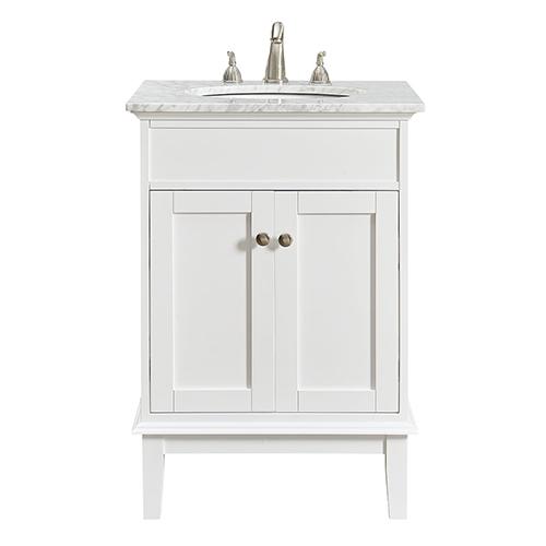 Elegant Lighting Sutton Frosted White Vanity Washstand