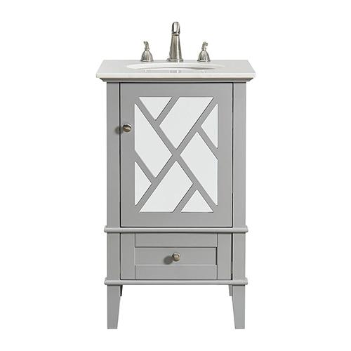 Luxe Grey Vanity Washstand