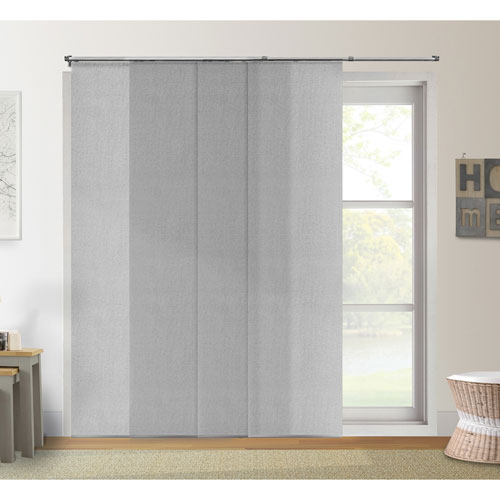 Adjustable 96 x 80 In. Urban Grey Light Filtering Sliding Panel
