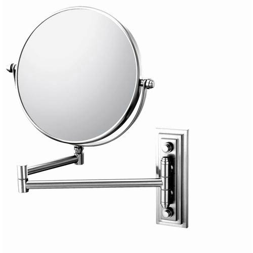 Mirror Image Chrome Classic Double Arm Wall Mirror