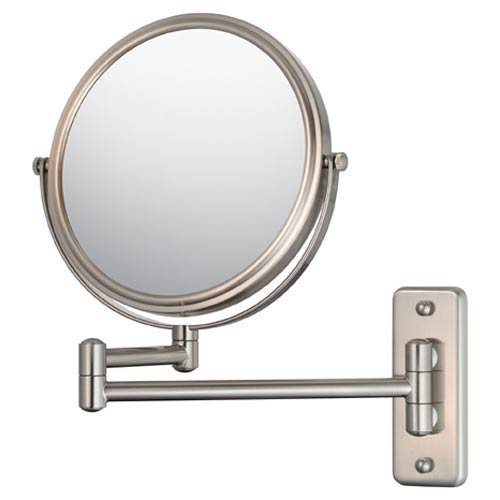 Mirror Image Brushed Nickel Double Arm Wall Mirror