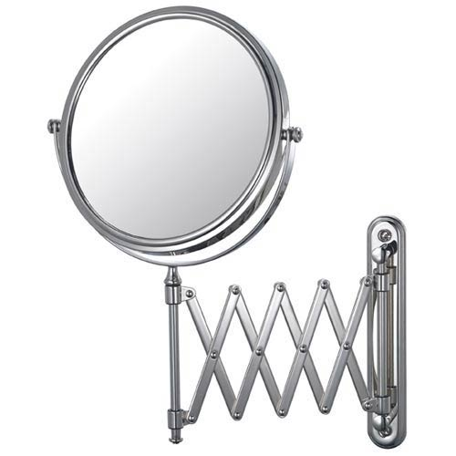 Aptations Mirror Image Chrome Extension Arm Wall Mirror