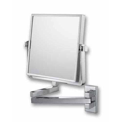 Mirror Image Chrome Square Double Arm Wall Mirror