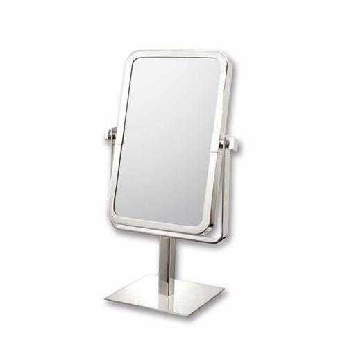 Aptations Mirror Image Brushed Nickel Rectangle Vanity Mirror