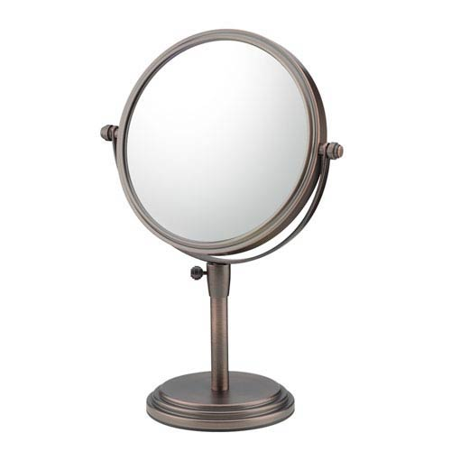 Mirror Image Italian Bronze Adjustable Free Standing Mirror
