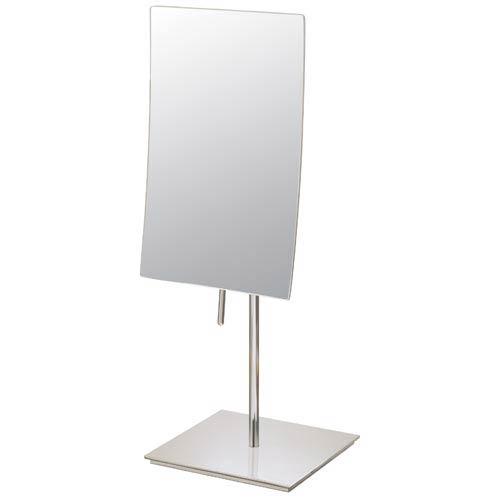 Mirror Image Brushed Nickel Minimalist Rectangular Vanity Mirror