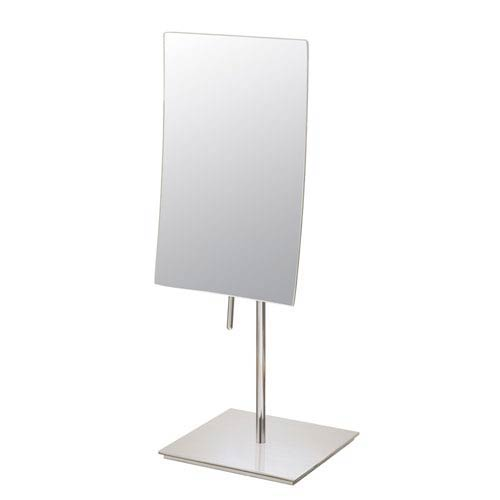 Mirror Image Polished Nickel Rectangular Free Standing Mirror Single-Sided