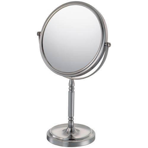 Mirror Image Brushed Nickel Recessed Base Vanity Mirror
