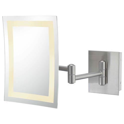 Kimball and Young Brushed Nickel Single-Sided LED Rectangle Wall Mirror