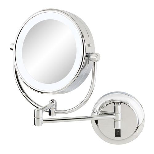 Neomodern Chrome LED Lighted Wall Mirror