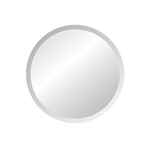 Regency 24-Inch Round Beveled Edge Mirror